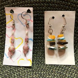 Jewelry - Two pairs of Homemade Dangling Earrings